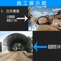 桥梁隧道涵洞道路河流地下管道钢波纹涵管金属波纹管涵 3