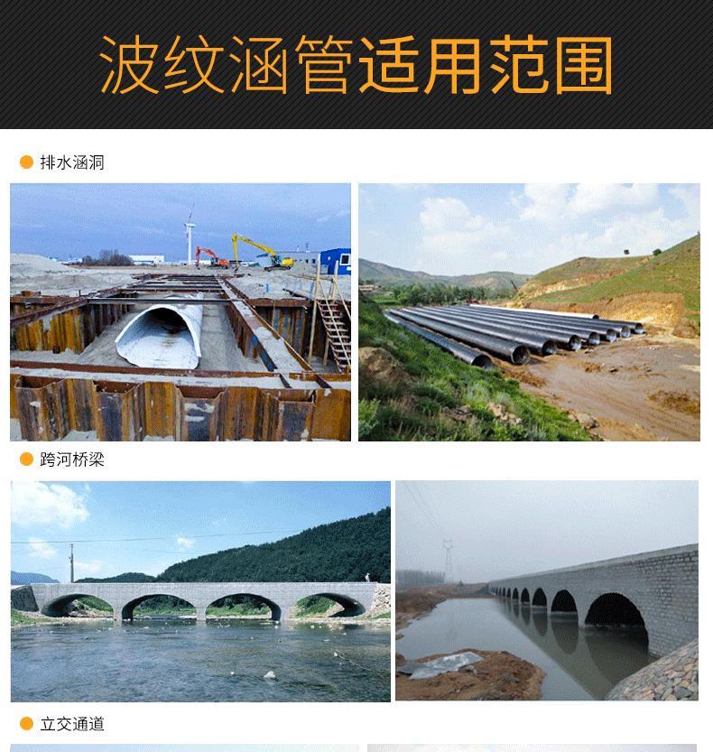 桥梁隧道涵洞道路河流地下管道钢波纹涵管金属波纹管涵 4