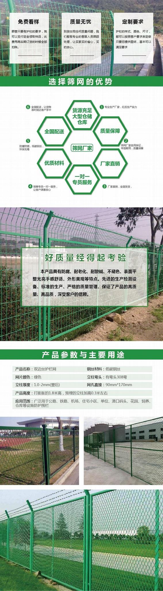 高速公路雙邊絲護欄網鐵絲網養殖圍欄雞網車間隔離圈地鋼絲荷蘭網 1