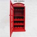 British Telephone Booth Wine Cabinet Retro Style Bar Wine Cabinet 3