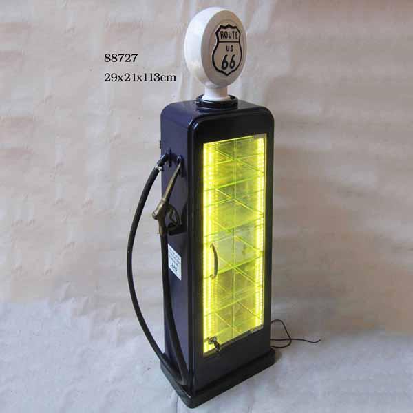 Gas Pump Storage Cabinet With Light Illuminated Lockable Display Cabinet 5