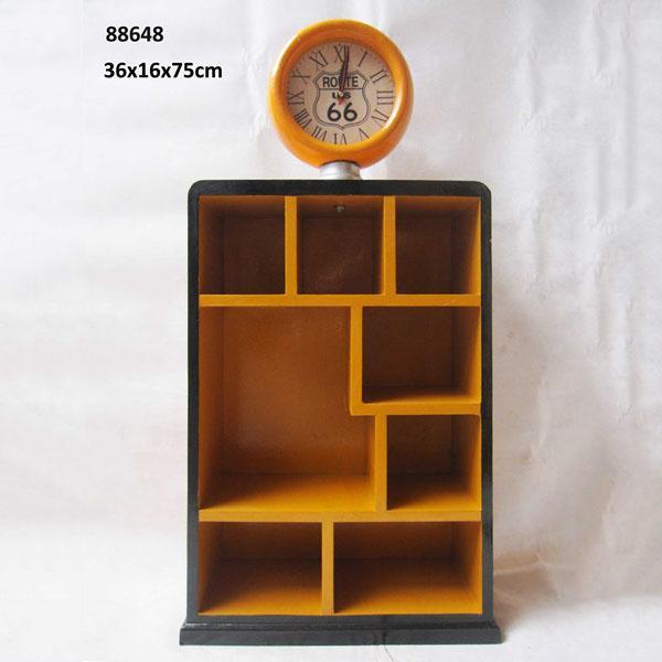Terrace House Look Wooden Storage Cabinet Three Door Bookcase 1