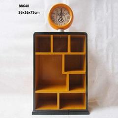 Terrace House Look Wooden Storage Cabinet Three Door Bookcase