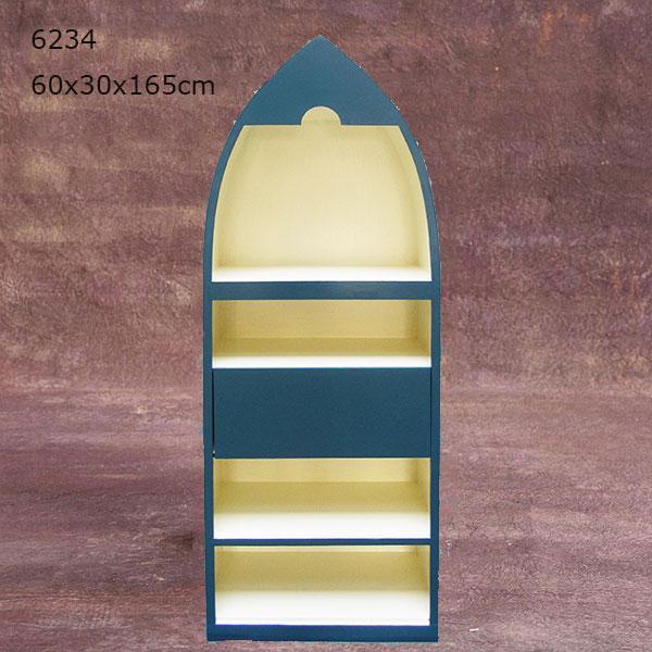 Terrace House Look Wooden Storage Cabinet Three Door Bookcase 3