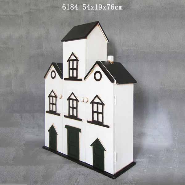 Terrace House Look Wooden Storage Cabinet Three Door Bookcase 5