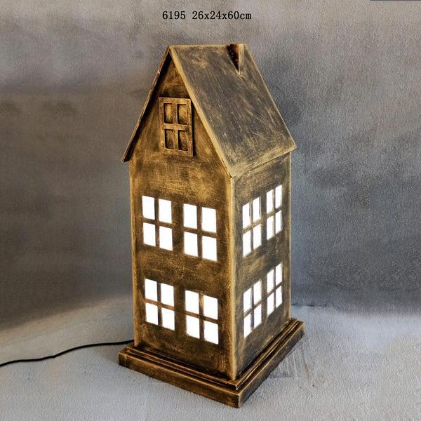 Big Ben Clock Tower Shaped Wooden Light Box With Clock Table Lamp Night Light 3