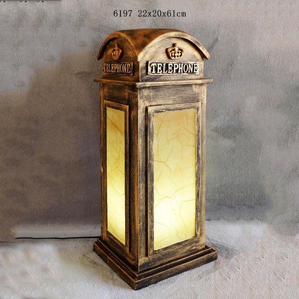 Big Ben Clock Tower Shaped Wooden Light Box With Clock Table Lamp Night Light 4