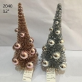Artificial Glittery Sisal Brush Tree