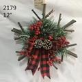 Christmas Door Decoration Natural Wood Sticks Wreath 3