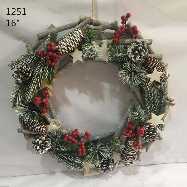 Christmas Door Decoration Natural Wood Sticks Wreath 1
