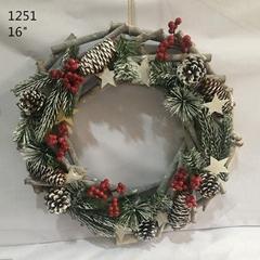 Christmas Door Decoration Natural Wood Sticks Wreath