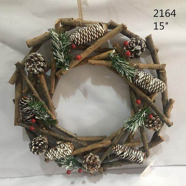Christmas Door Decoration Natural Wood Sticks Wreath 5