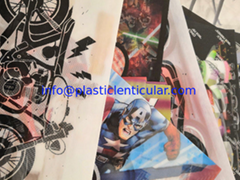 lenticular t-shirts hot melt adhesive 3d flip lenticular stickers printing