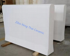 Fused Silica Tweels Cover Blocks for Float Glass Production Line