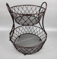2 tier fruit metal  basket 1