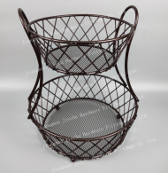 2 tier fruit metal  basket