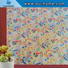 H808 3D Static Decorative Privacy Window Glass Sticker