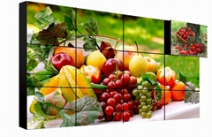 Wall mounted video screen wall advertisement display