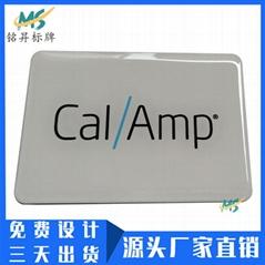 深圳厂家制作电器水晶滴胶贴纸透明PVC滴塑标贴logo定做