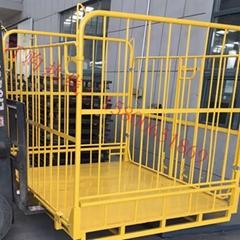 双开门折叠式家电回收箱 大型钢制周转箱 厂家直销定制折叠式货