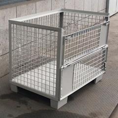 歐式倉儲籠固定金屬週轉箱 堆垛式鐵籠