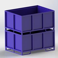 物流容器廠家定製汽車內飾件外飾件金屬零件包裝箱 折疊鐵箱批發