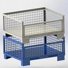 歐式網箱歐式可折疊料箱歐式可折疊金屬網箱歐式金屬週轉鐵箱