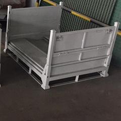 鋼制料箱金屬物流箱可堆式週轉箱倉庫籠直銷鐵板箱批發