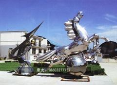 創意不鏽鋼動物雕塑