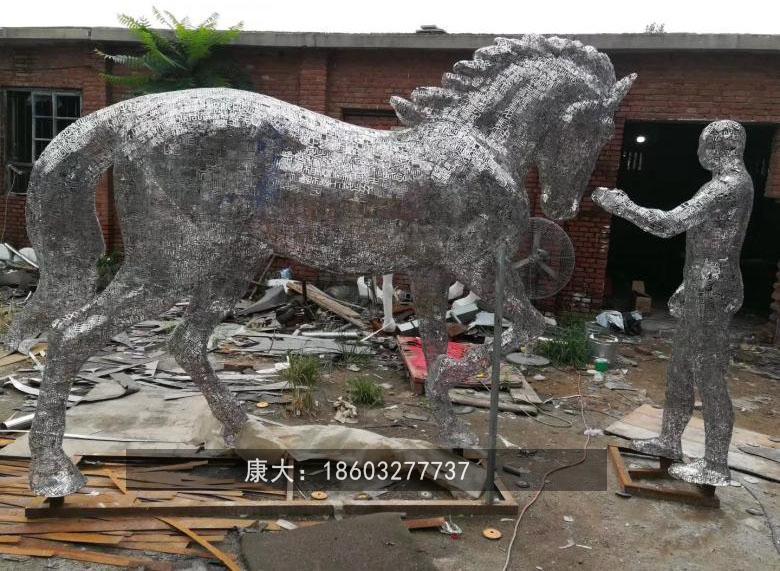 不锈钢镂空马雕塑广场镂空马雕塑 2