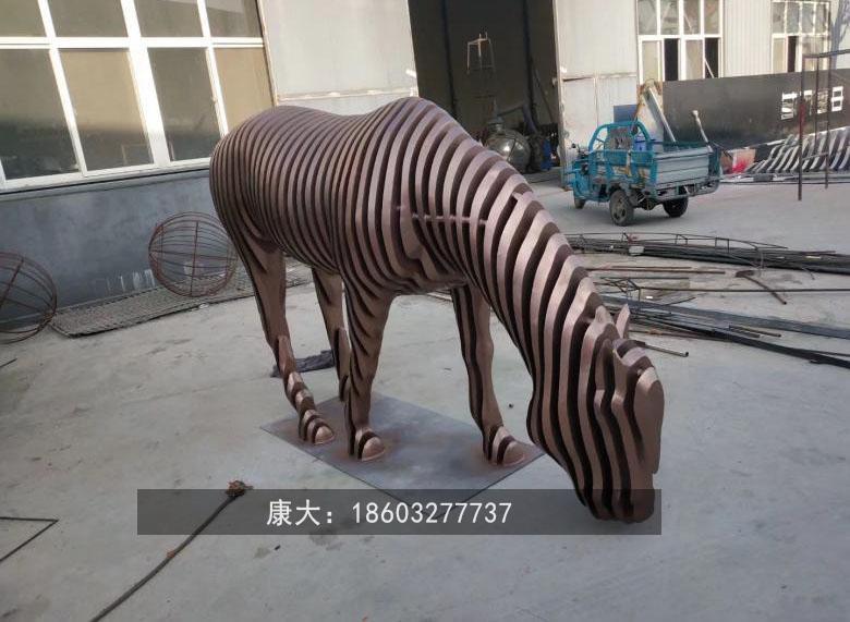 不锈钢镂空马雕塑广场镂空马雕塑 4