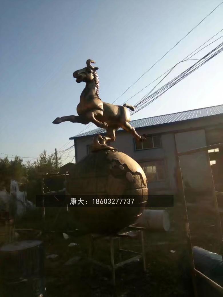 不锈钢镂空马雕塑广场镂空马雕塑 5