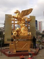 不鏽鋼鏤空馬雕塑廣場鏤空馬雕塑