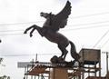 不锈钢奔马雕塑 大型不锈钢动物摆件  3