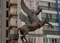不锈钢奔马雕塑 大型不锈钢动物摆件  5
