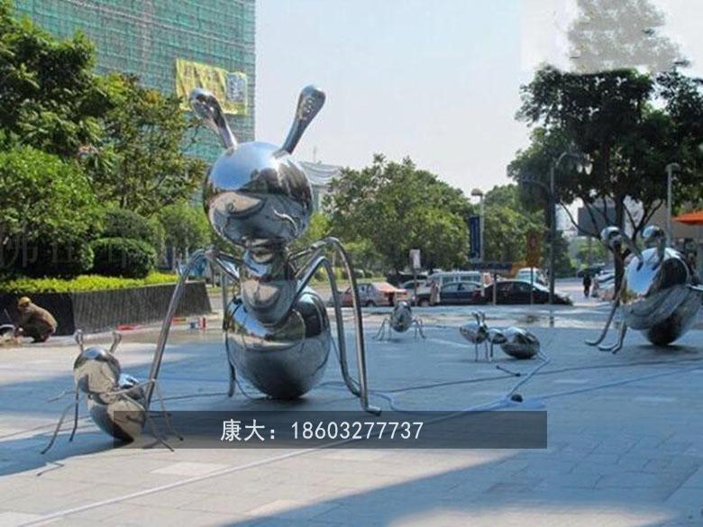 镜面仿真昆虫雕塑不锈钢动物雕塑 5