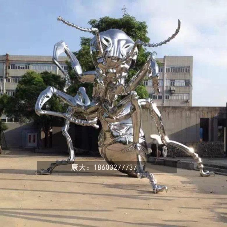 不锈钢公园小区广场特色金属动物雕塑小品装饰 4