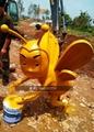 不锈钢蜜蜂雕塑 创意工艺品景观动物摆件 3