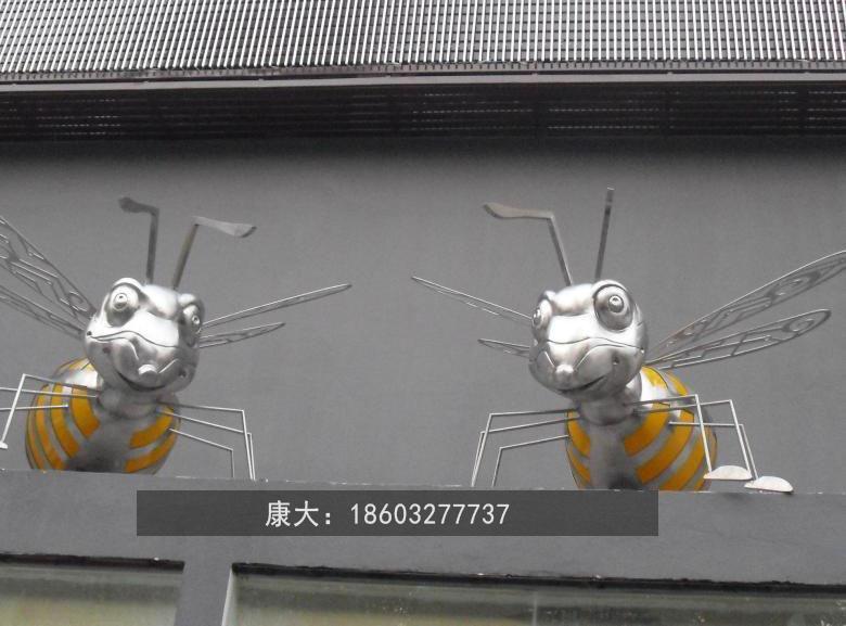 不锈钢蜜蜂雕塑 创意工艺品景观动物摆件 5