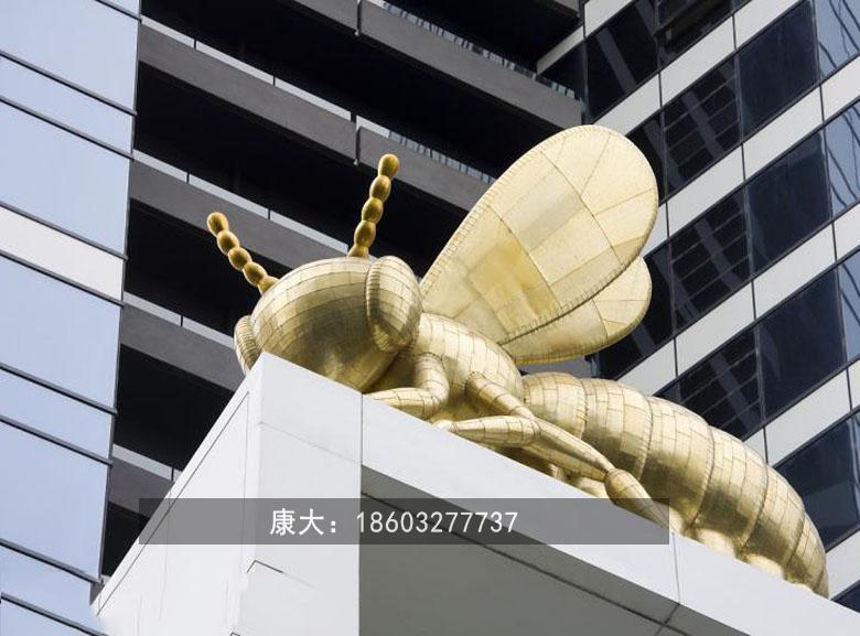 不锈钢小蜜蜂雕塑抽象景观昆虫雕塑 3