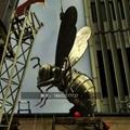 不锈钢小蜜蜂雕塑抽象景观昆虫雕塑 5
