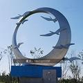 公园动物雕塑不锈钢大雁雕塑 2