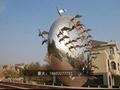 公园动物雕塑不锈钢大雁雕塑 5