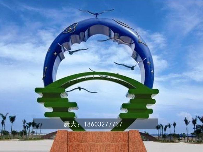 公园动物雕塑不锈钢大雁雕塑 1
