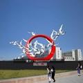 不锈钢鸽子雕塑不锈钢动物手工锻