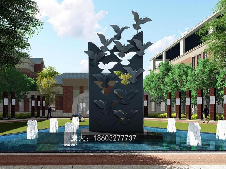 金属鸟类艺术品雕塑不锈钢动物雕塑 2