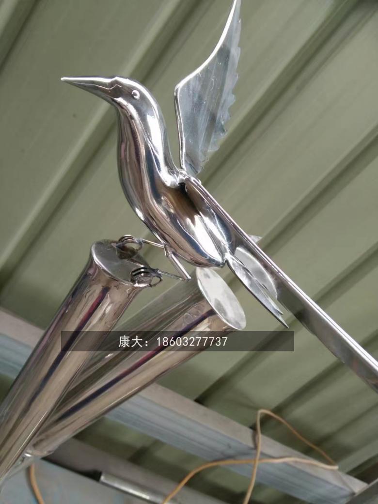金属鸟类艺术品雕塑不锈钢动物雕塑 5