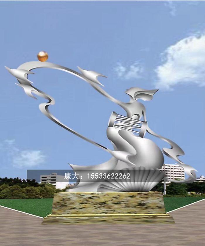 城市户外大型金属不锈钢雕塑定制园林广场景观摆件 1