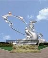 城市户外大型金属不锈钢雕塑定制