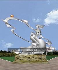 城市戶外大型金屬不鏽鋼雕塑定製園林廣場景觀擺件